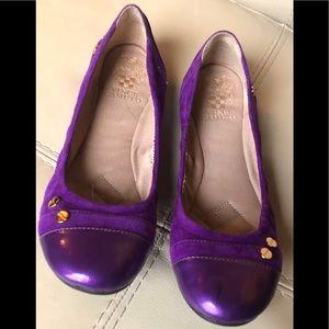 Vince Camuto Purple Suede Leather Ballet Flats